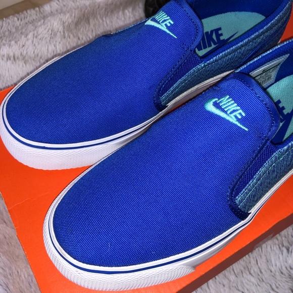 Nike Shoes | Slipons Blue | Poshmark